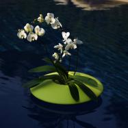 Plávajúci dizajnový kvetináč Ninfea