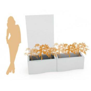 Svietiaci dizajnový kvetináč Privé