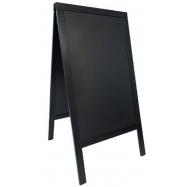 """Ponuková tabuľa Securit v tvare písmena A 68 x 120 cm - čierna"""""""""""