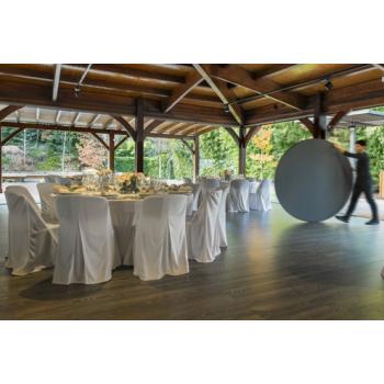 Rautový skladací stôl ZOWN PLANET 120 - NEW - Ø122 cm