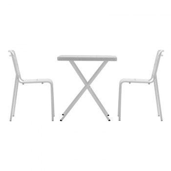 Set BISTROT 70 + 2x ALMA CHAIR, biely