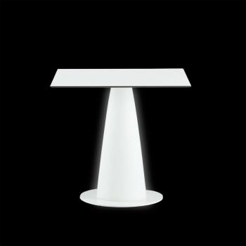 Koktejlový svietiaci stôl Hopla Light so štvorcovou doskou