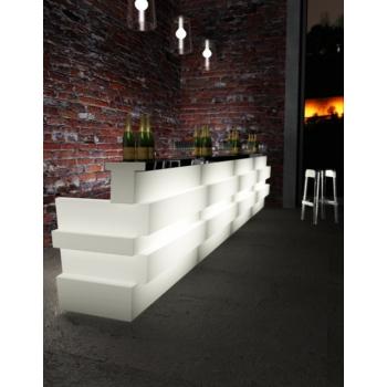 Svietiaci barový pult Tetris - rovný diel