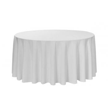 Obrus na okrúhle stoly Ø 180 cm, 100% bavlna, 240g / m2, biely