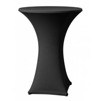 Elastický poťah SAMBA na koktejlové stoly Ø 60cm - čierny