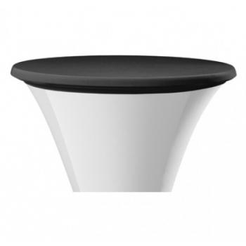 Elastický poťah STEP na dosku stola Ø 60cm - čierny
