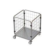Pojazdná klietka na prepravu bielizne BESI STANDARD 10 - chróm/zinok