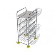 Zdravotnícky viacúčelový košíkový vozík AMBULANT MINI 3