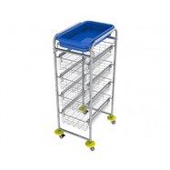 Zdravotnícky viacúčelový košíkový vozík AMBULANT MINI 4