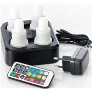 Súprava 4 LED sviečok s možnosťou napájania
