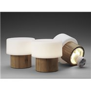 SISTER - LED svietidlo z bambusu - 110 x 110 mm