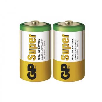Alkalická batéria GP Super LR20 (D), blister