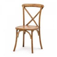 Banketová stolička Crossback, drevo, farba Antique