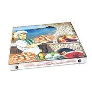Krabice na pizzu z vlnité lepenky 40x40x4