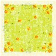 Ubrus 84cm DCL SPRING FLOWERS