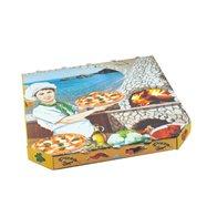 Krabice na pizzu z vlnité lepenky 33x33x3