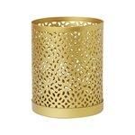 Svietnik - materiál kov zlatá barva.Možnost použiť čajové sviečky a ľad sviečky.