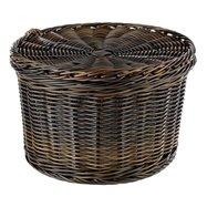 Košík Rattanový textil priemer 26cm, výška 17cm, čierny