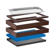 Bufetový modul Wood ICE 13 cm, tmavý
