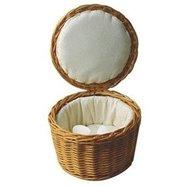 Košík Rattan s textilnou vložkou na vajcia priemer 26cm výška 17cm