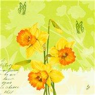 Ubrousek 40x40 cm 3 vrstvý SPRING FLOWERS